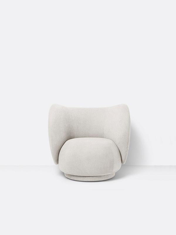 ferm living Lounge Sessel Rico off white