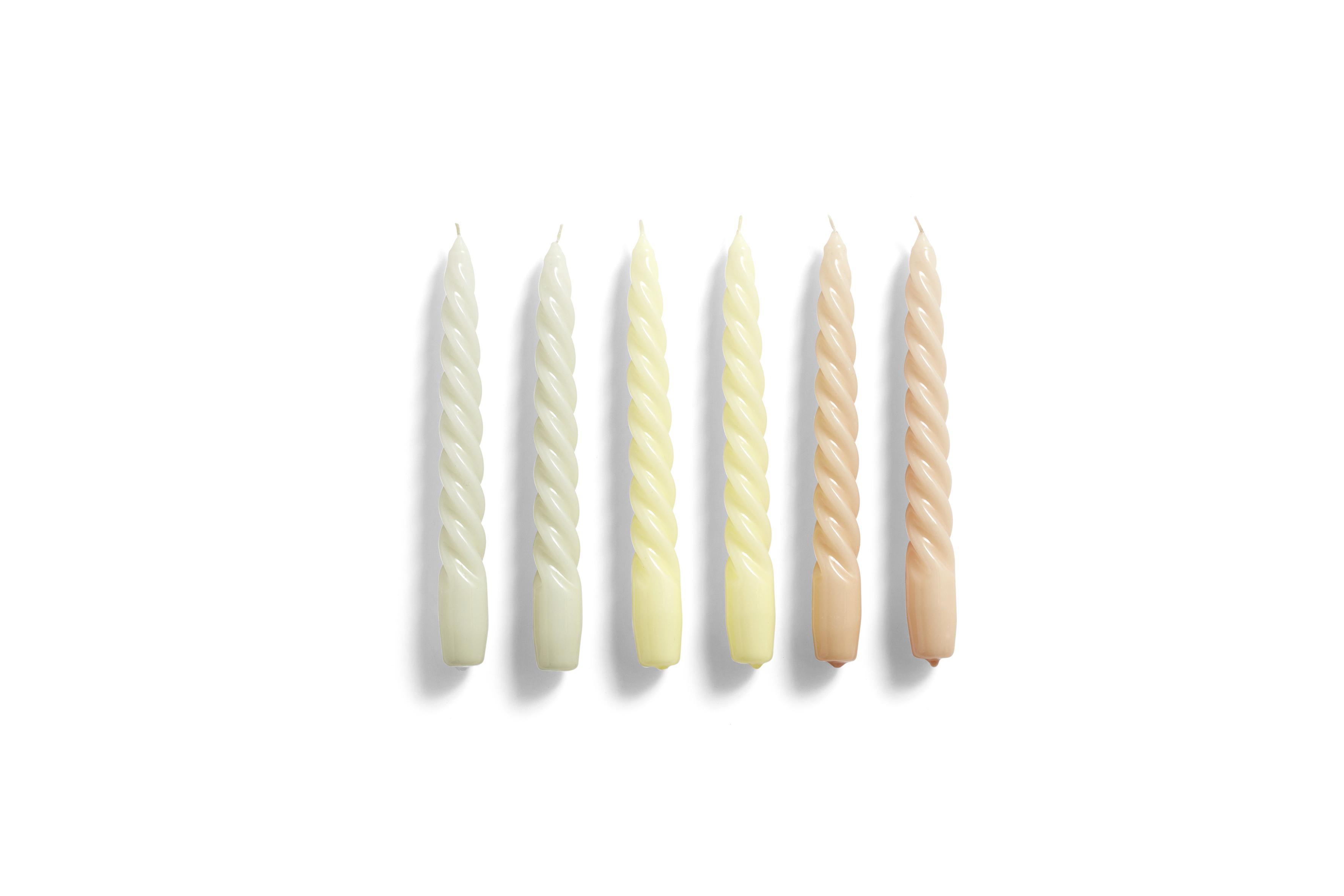 HAY 6 Kerzen Twist grey beige, citrus, peach