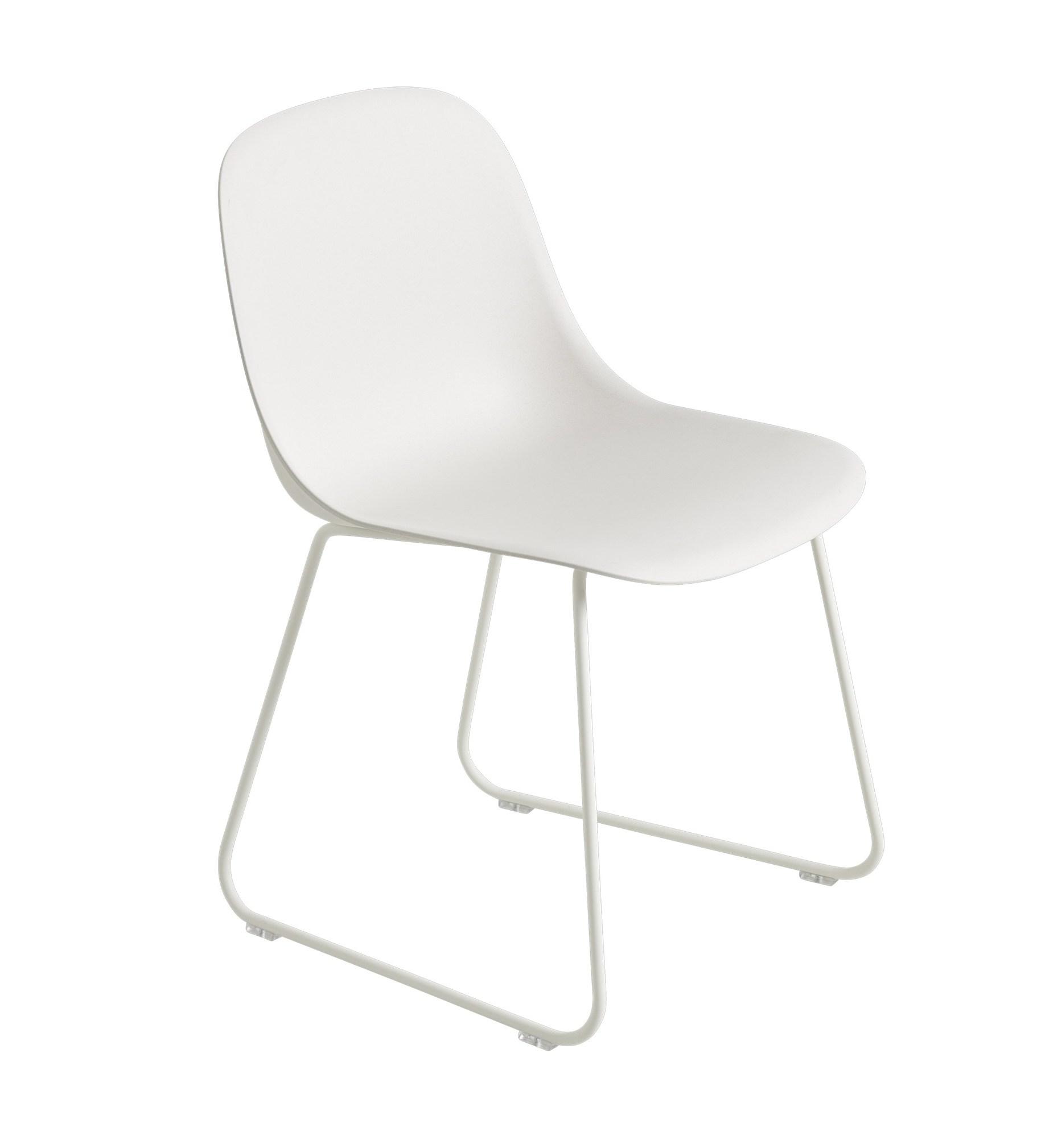 muuto Fiber Side Chair Sled Base weiß