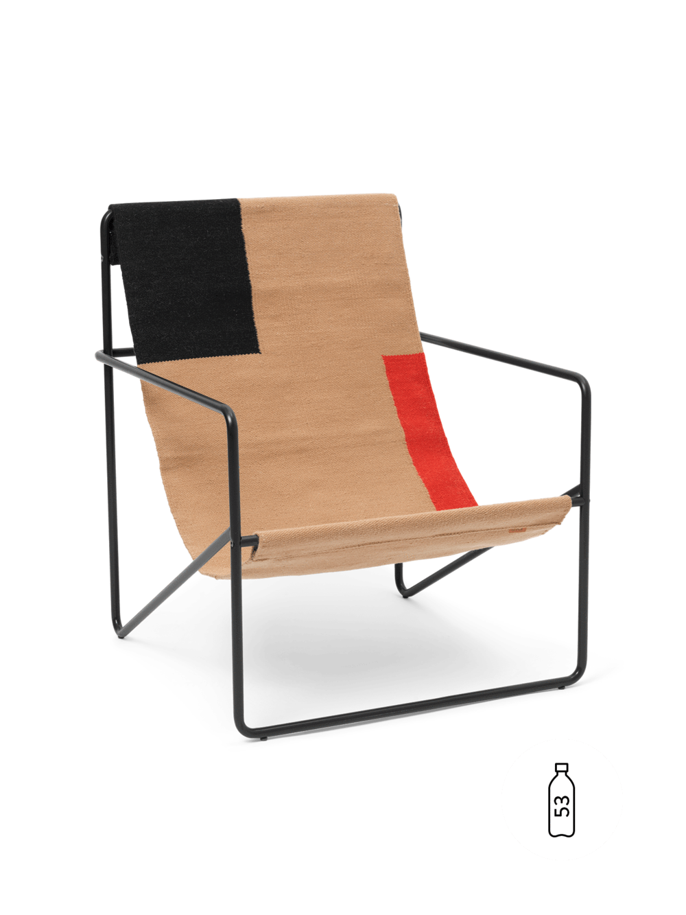 ferm living Desert Lounge Chair - Black/Block