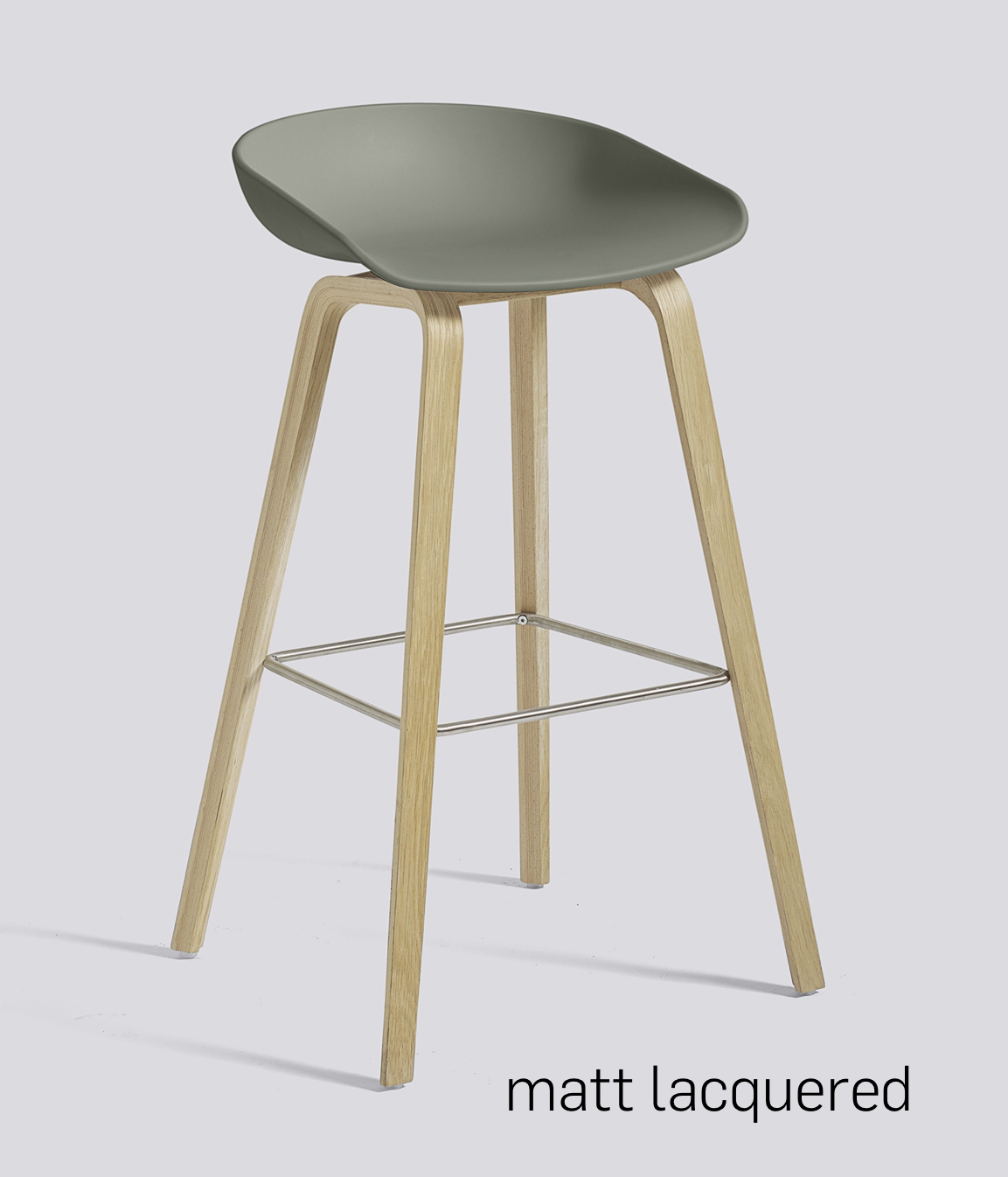 HAY About a Stool 32 Eiche dusty green