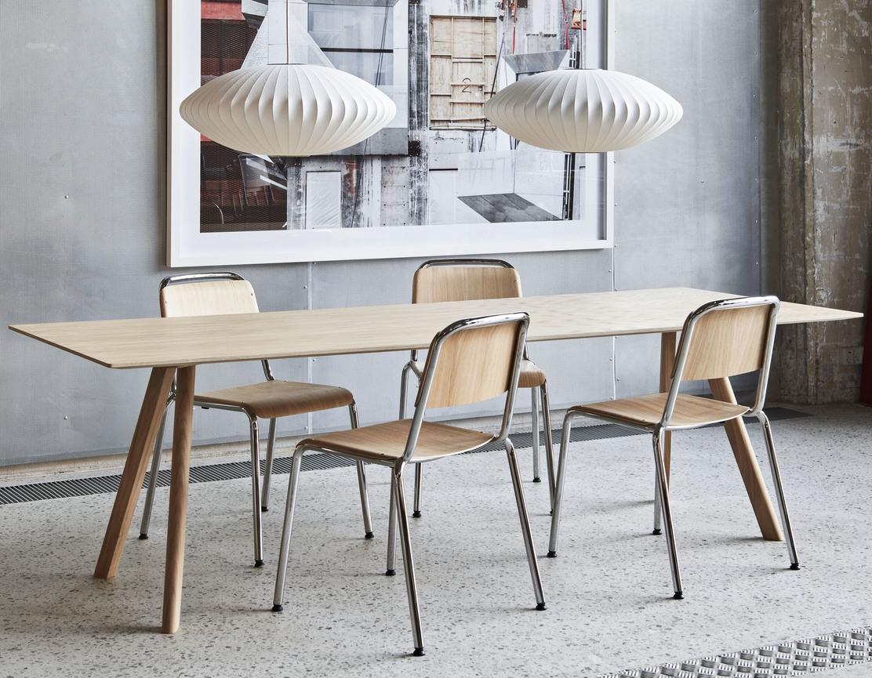 HAY Tisch CPH 30 Laminat weiß / Eiche 250cm