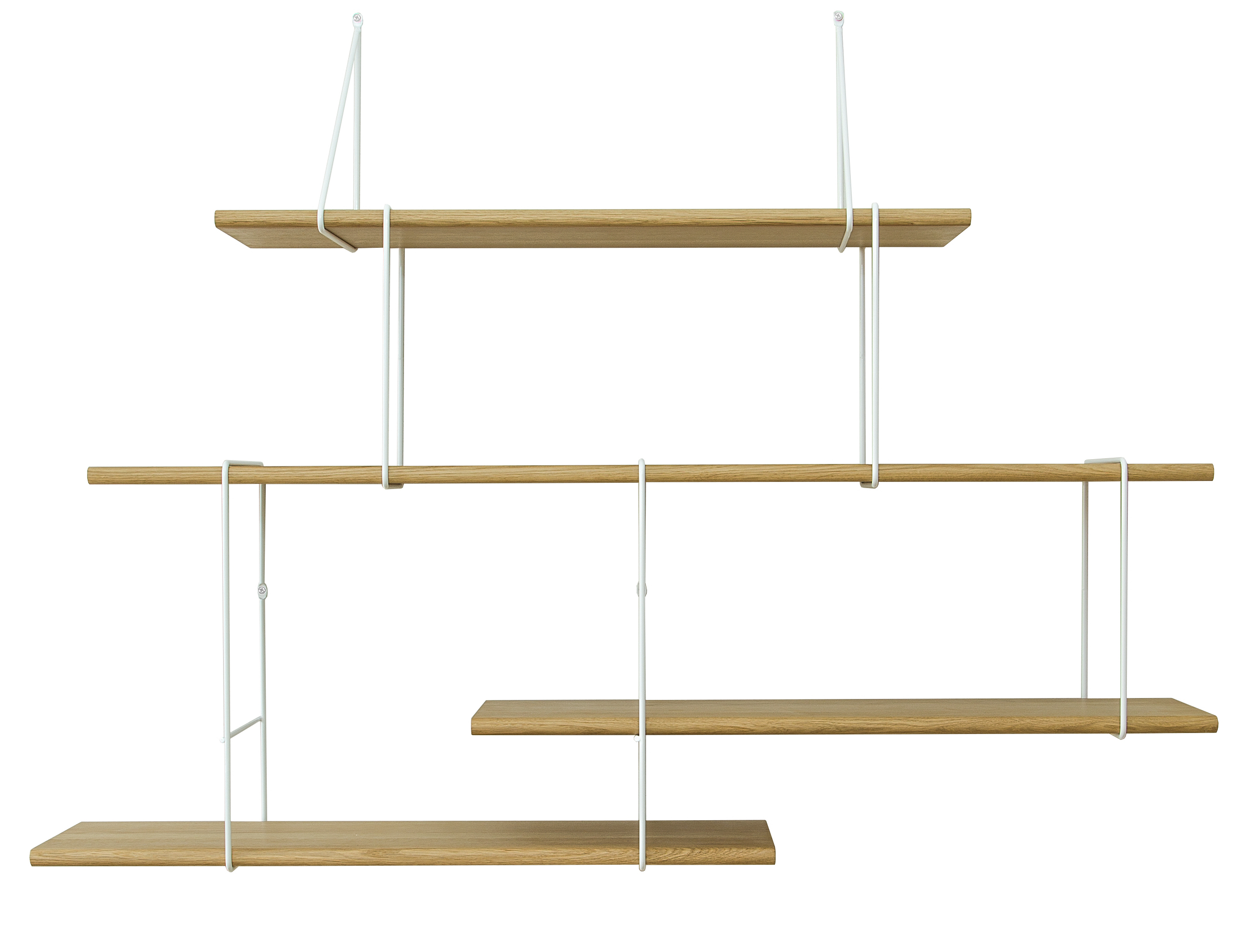 Studio Hausen Link Regal Setup2 Eiche | Weiß