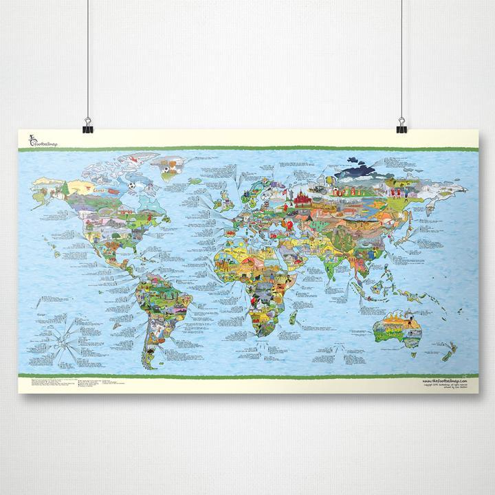 Awesome Maps  Fußball Weltkarte