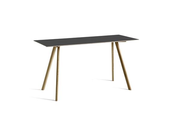 HAY Tisch CPH 30  Linoleum schwarz / Eiche hoch