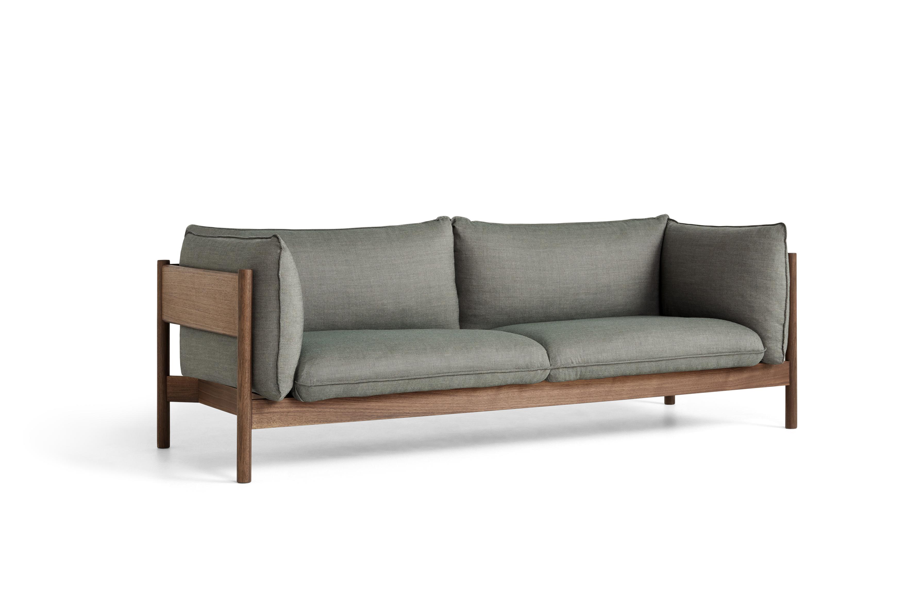 HAY Sofa ARBOUR 3 Sitzer | Walnuss |Atlas 931