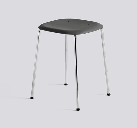 HAY Hocker Soft Edge 70 chrom-softblack