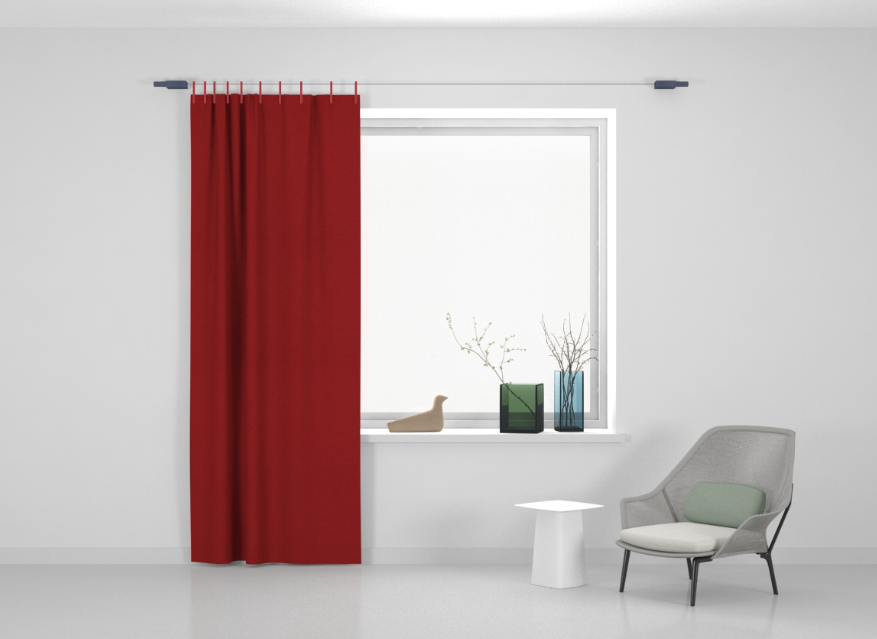 Kvadrat Ready made curtain Stoff Frozen 610