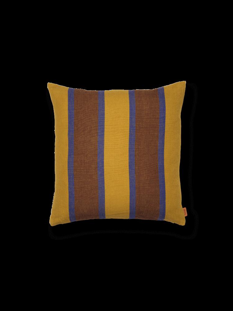 ferm living Grand Cushion Lime/Bright Blue/Choco