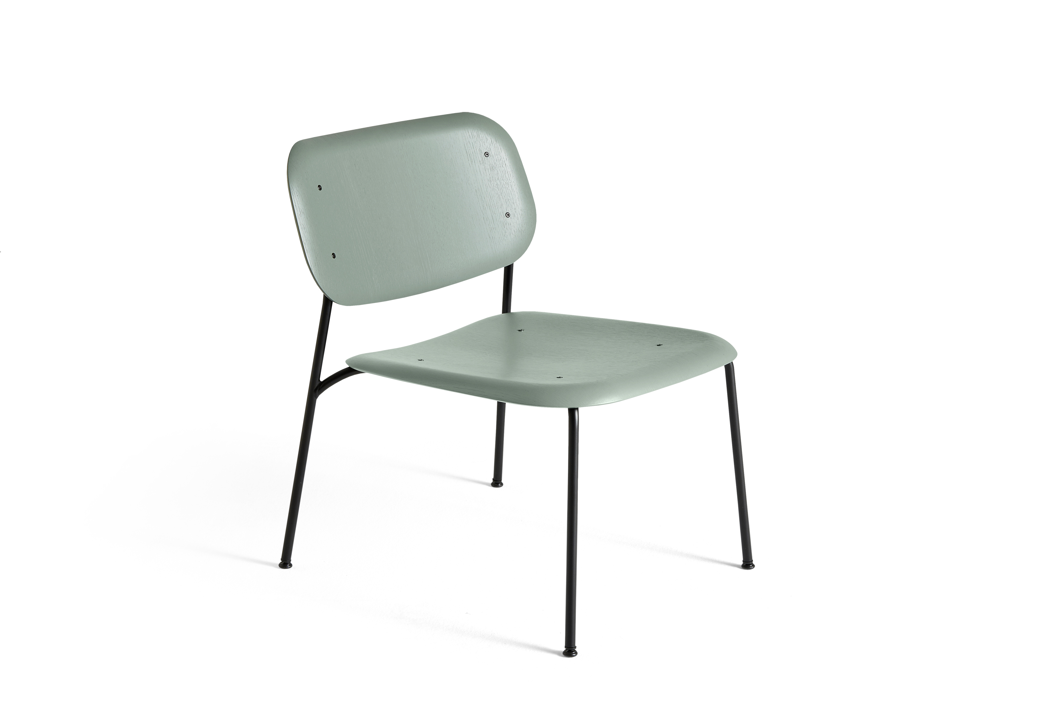HAY Soft Edge 10 Lounge dusty green | schwarz