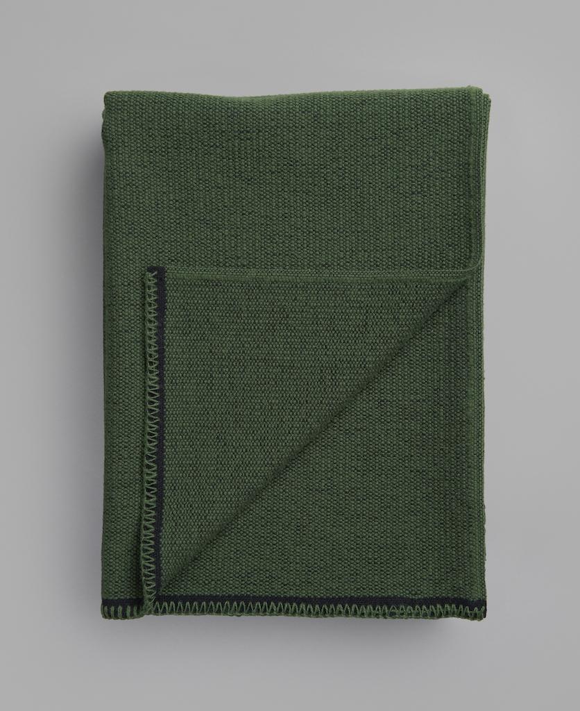 Røros Tweed Decke Picnic moosgrün