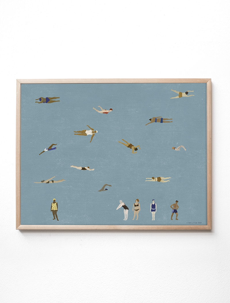 fine little day Poster Swimmers