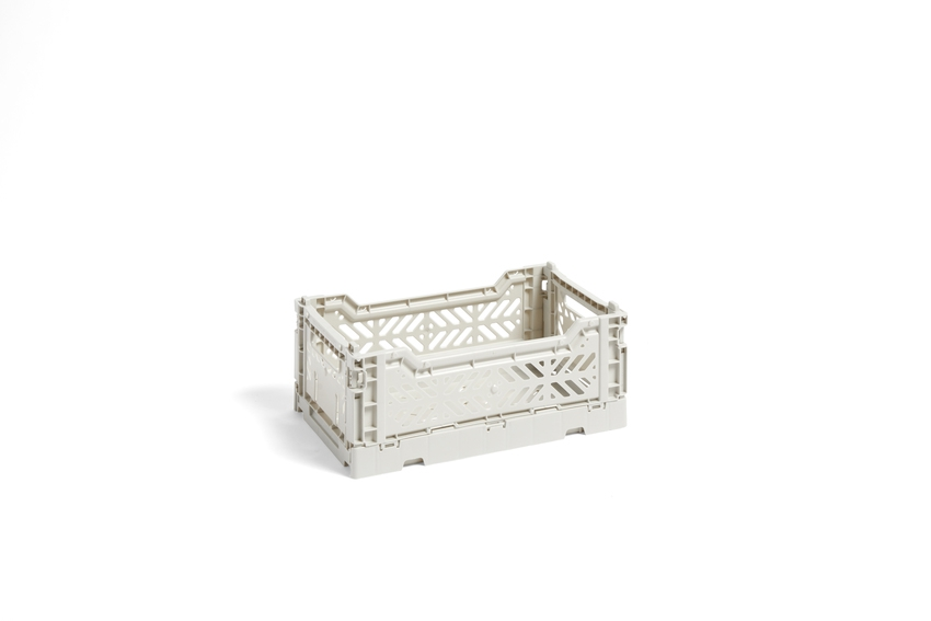 hay colour crate Stapelkiste light grey S