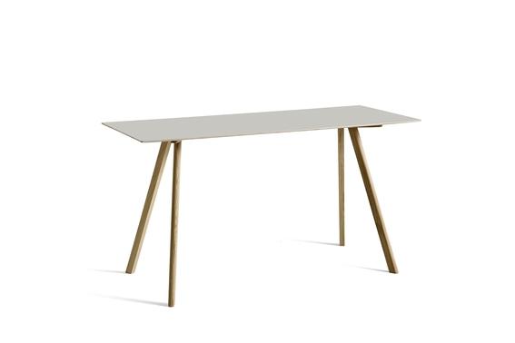 HAY Tisch CPH 30 Linoleum off white / Eiche hoch