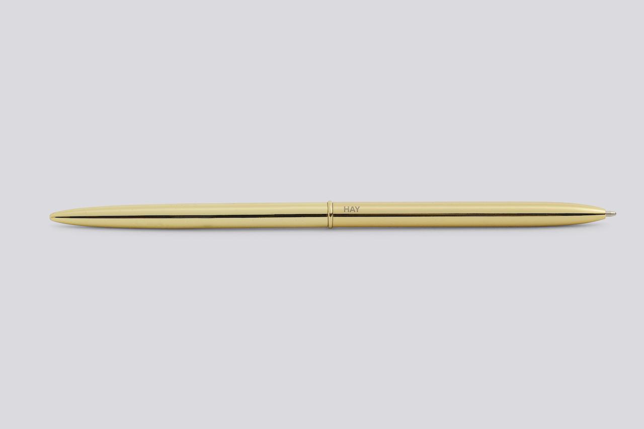 Kugelschreiber Bullet  gold von HAY