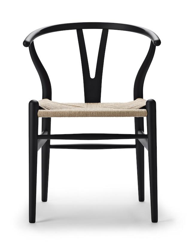Carl Hansen CH 24 soft black Wishbone Chair