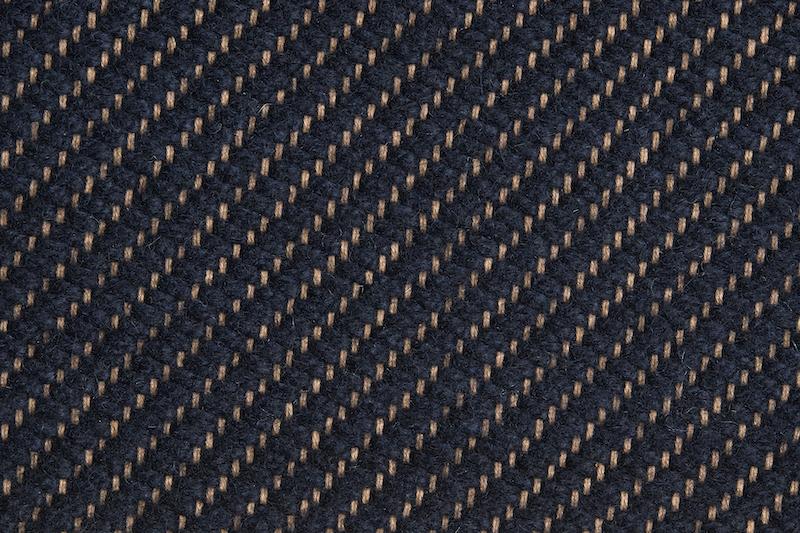 HAY Teppich Bias Dark Blue