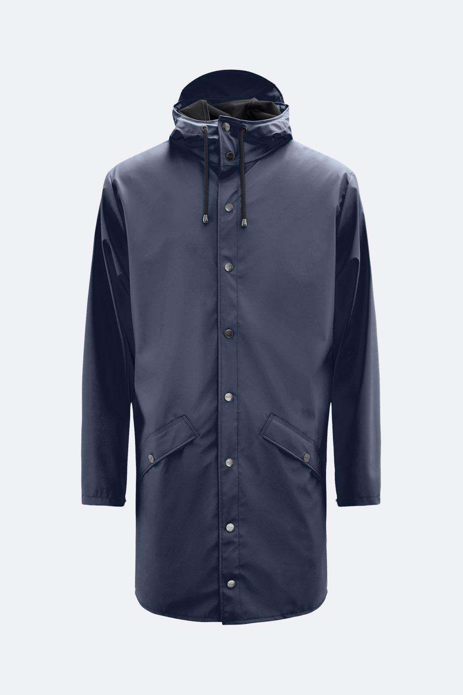Rains Long Jacket blau unisex M/L