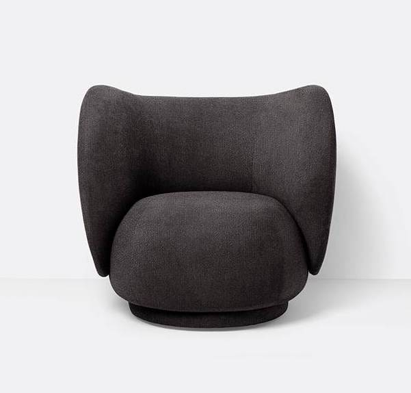 ferm living Lounge Sessel Rico warm dark grey