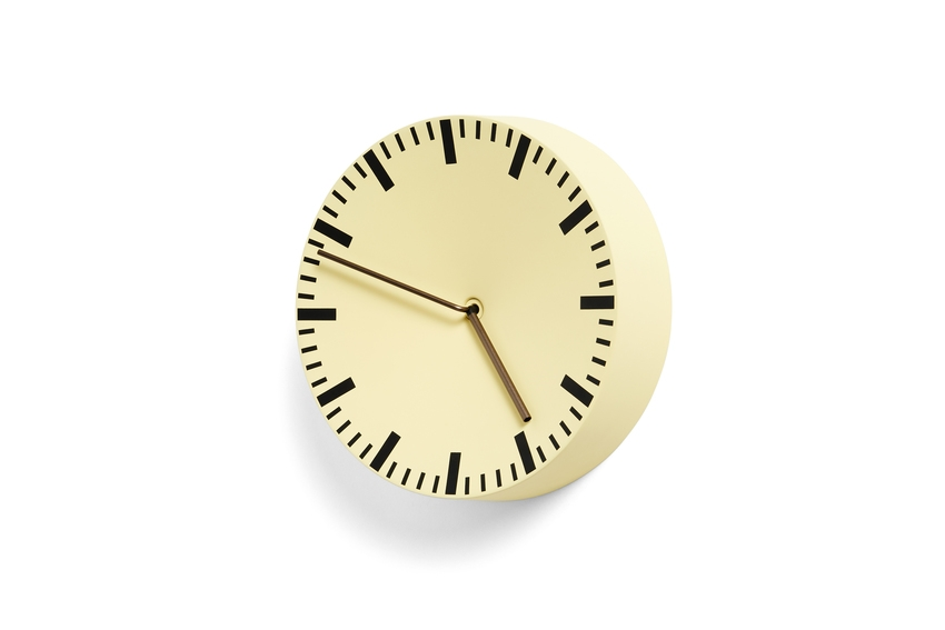 Hay Uhr Analog light yellow