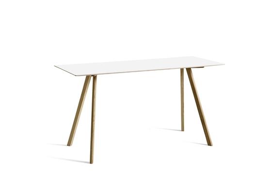 HAY Tisch CPH 30 Laminat weiß / Eiche hoch