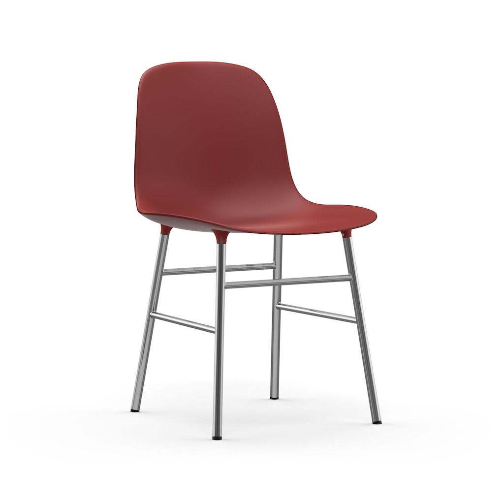 normann copenhgen form chair rot/ chrom