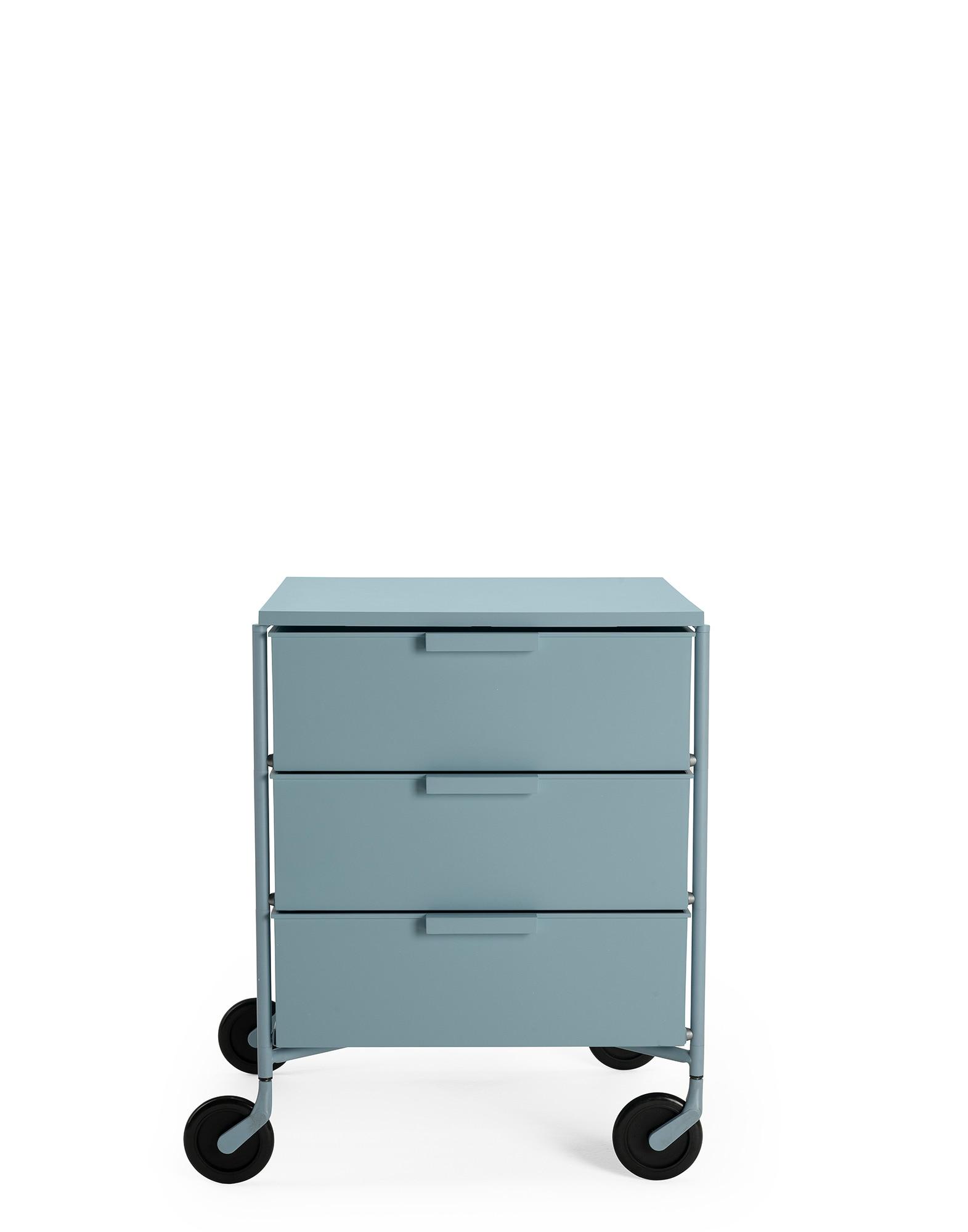 Kartell Rollcontainer Mobil matt blau