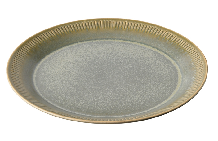 Knabstrup Teller olivgrün ø27cm