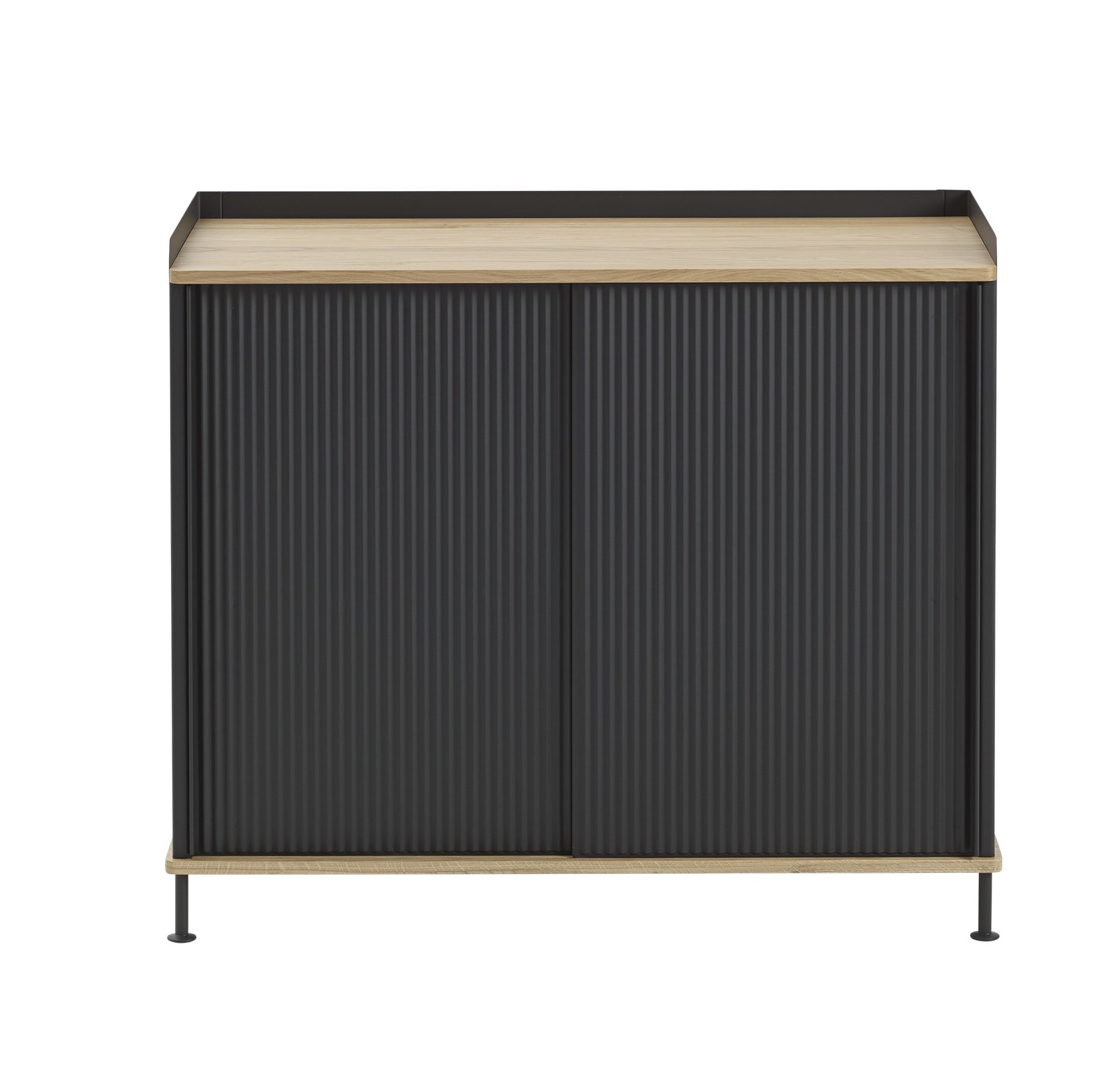muuto Enfold Sideboard schmal oak/ black