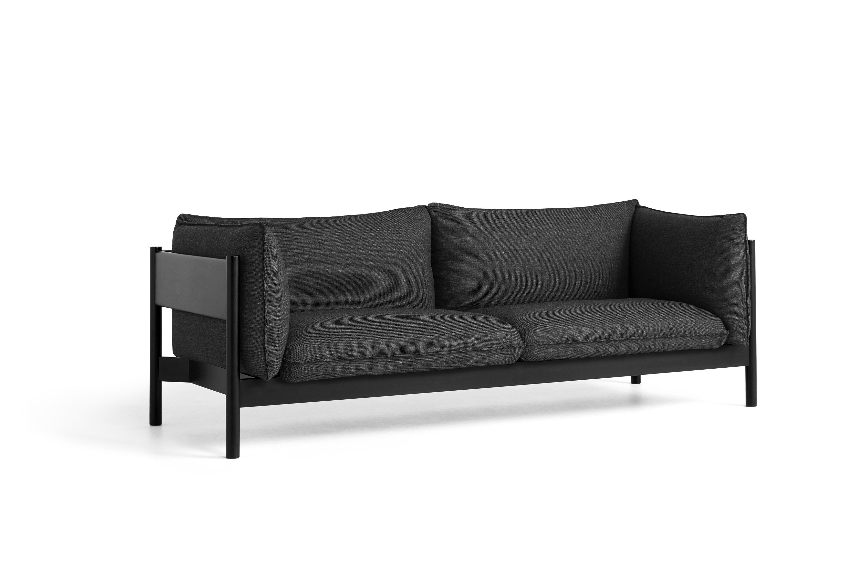 HAY Sofa ARBOUR 3 Sitzer |black| Re- Wool 198