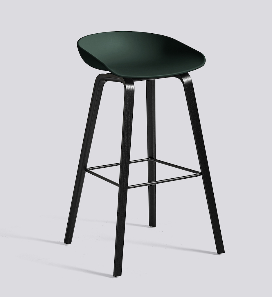 HAY About a Stool 32 schwarz hunter green