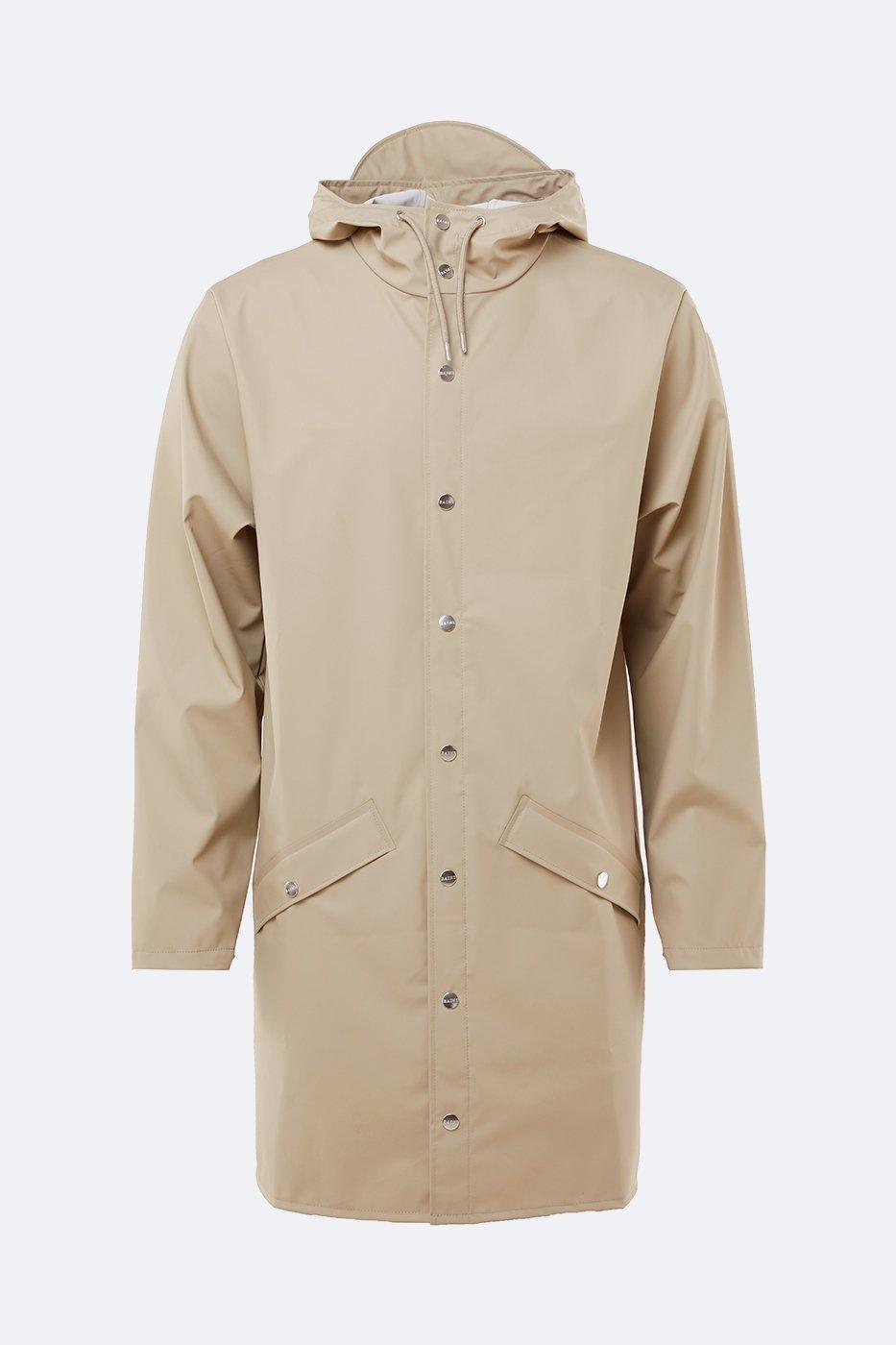 Rains Long Jacket beige unisex S/M
