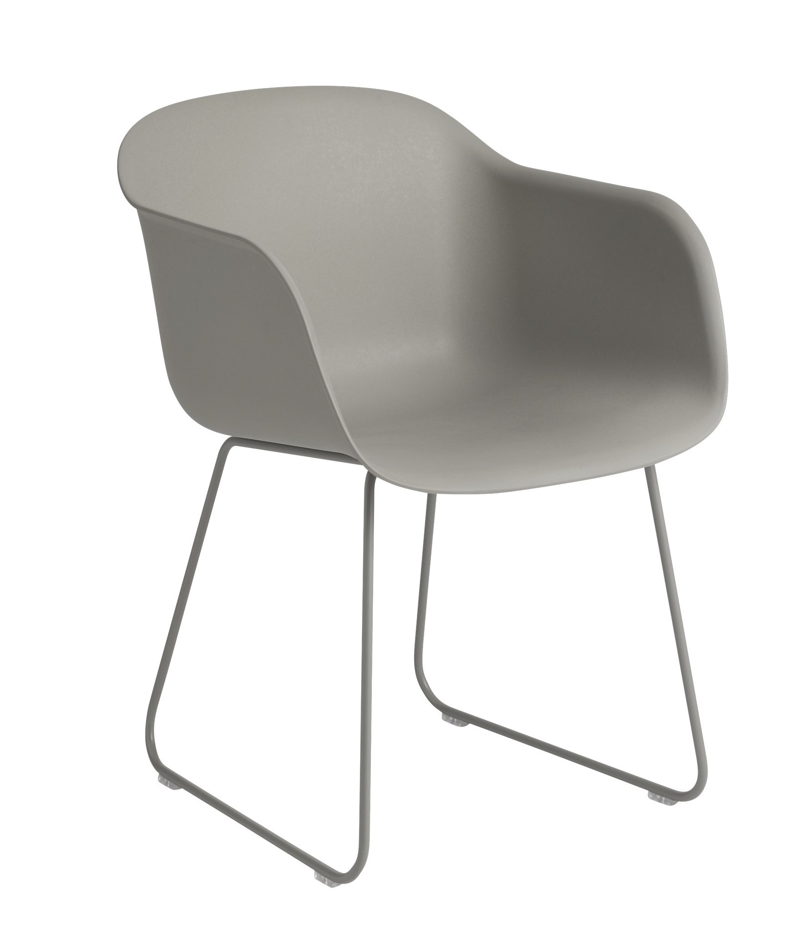 muuto Fiber Armchair Sled Base grey