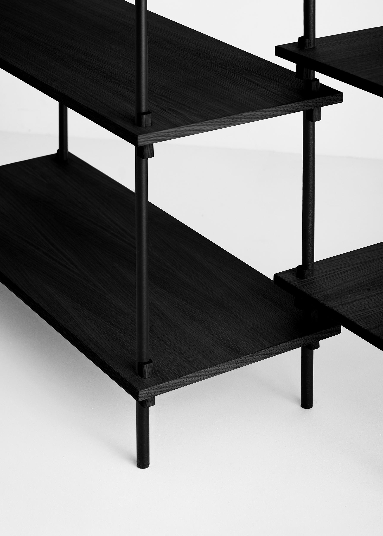 Moebe Shelving System tall single black