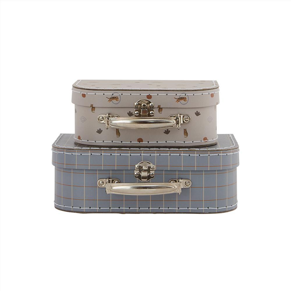 OYOY Suitcase mini Tiger & Grid