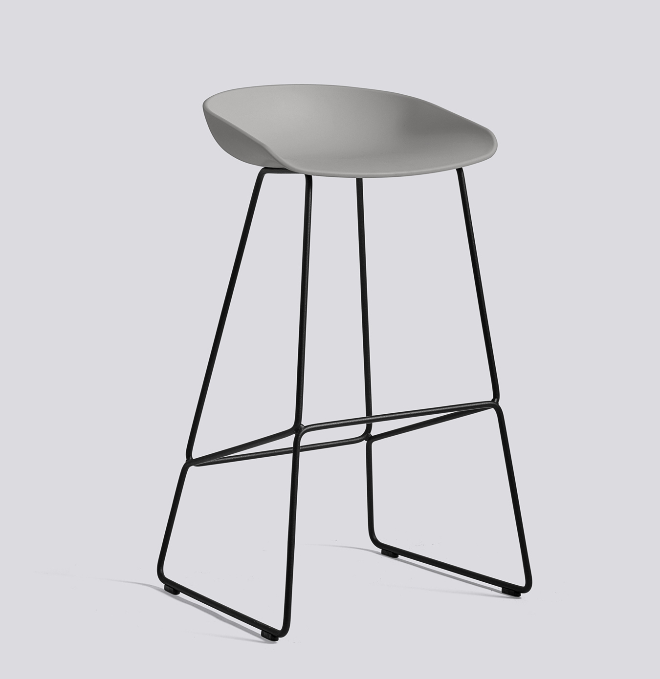 HAY About a Stool 38 schwarz concrete grey
