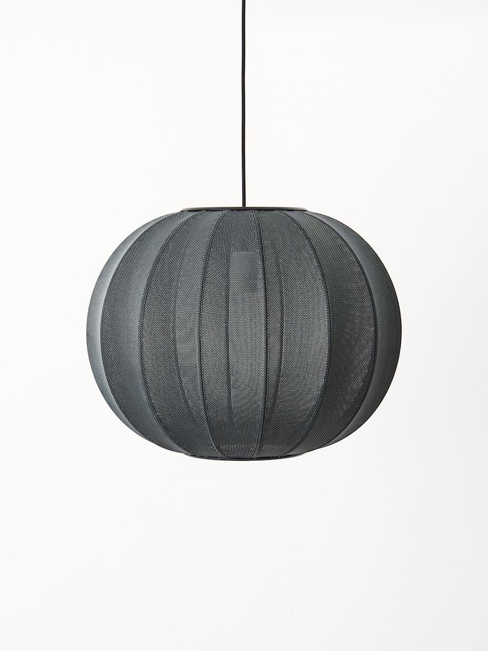 Made by Hand Knit Wit Pendelleuchte black ø60cm