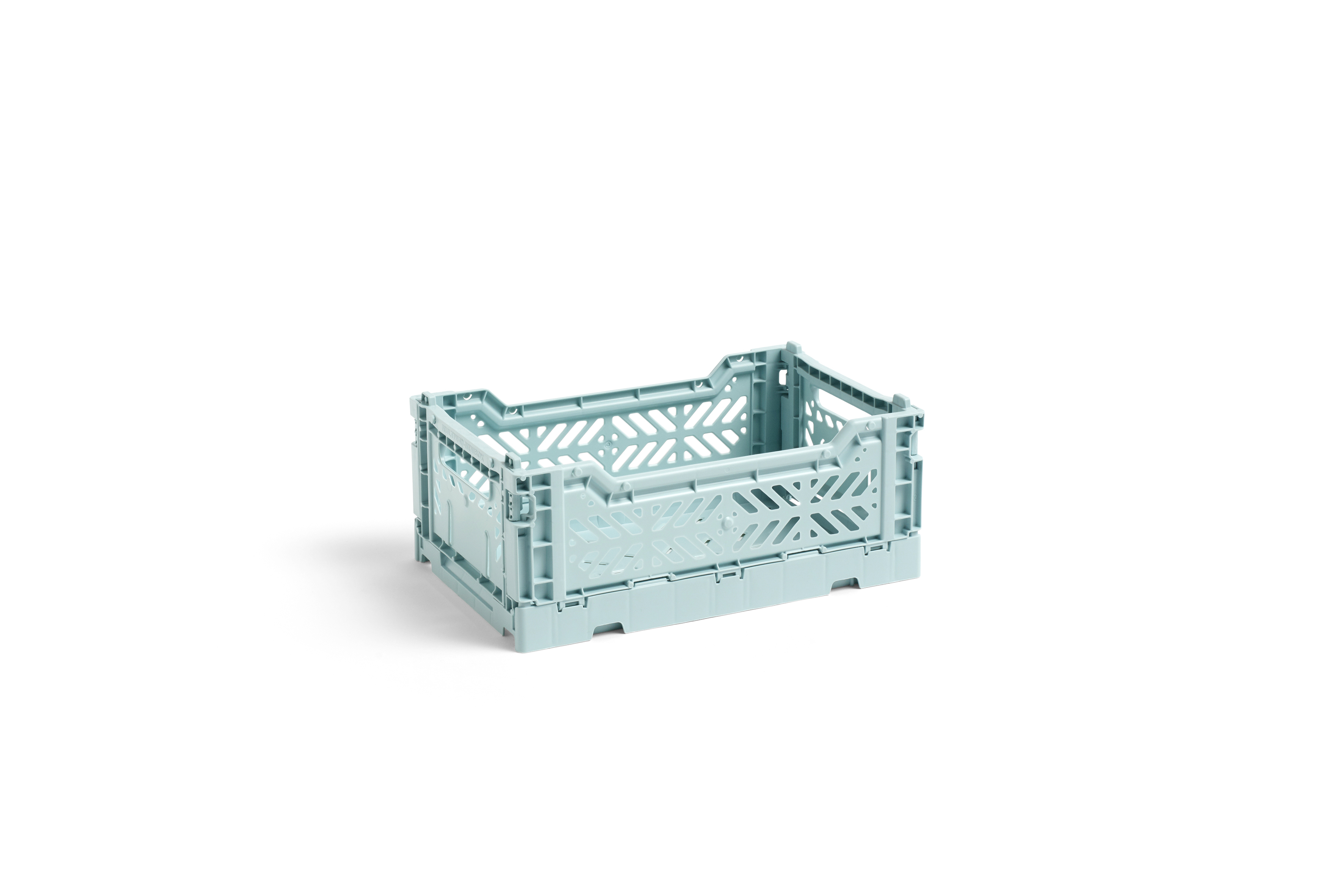 Hay colour crate Stapelkiste arctic blue  S