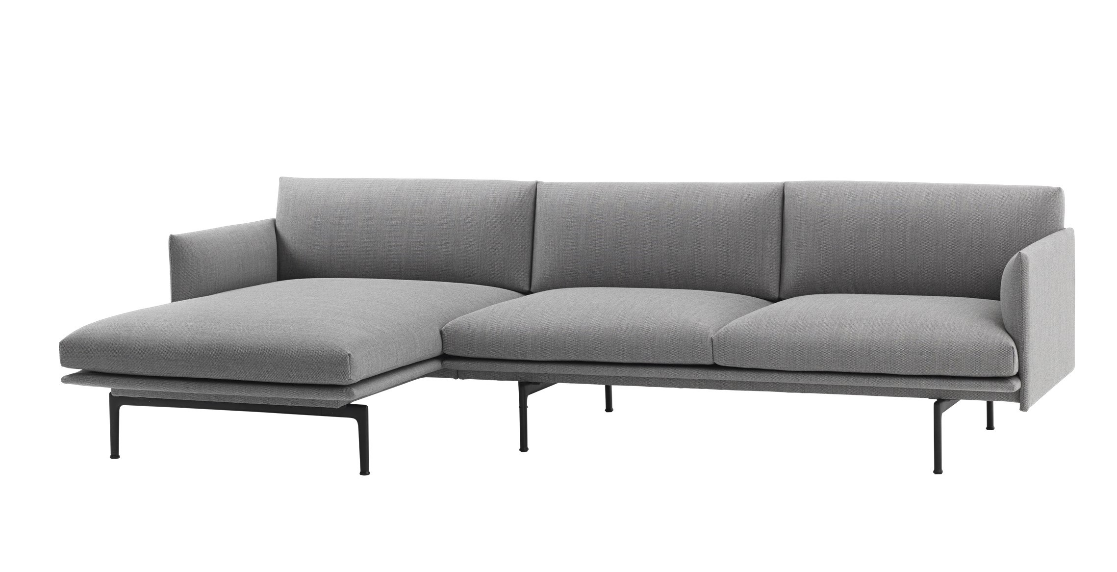 muuto Sofa Outline Chaise Longue links Fjord 151