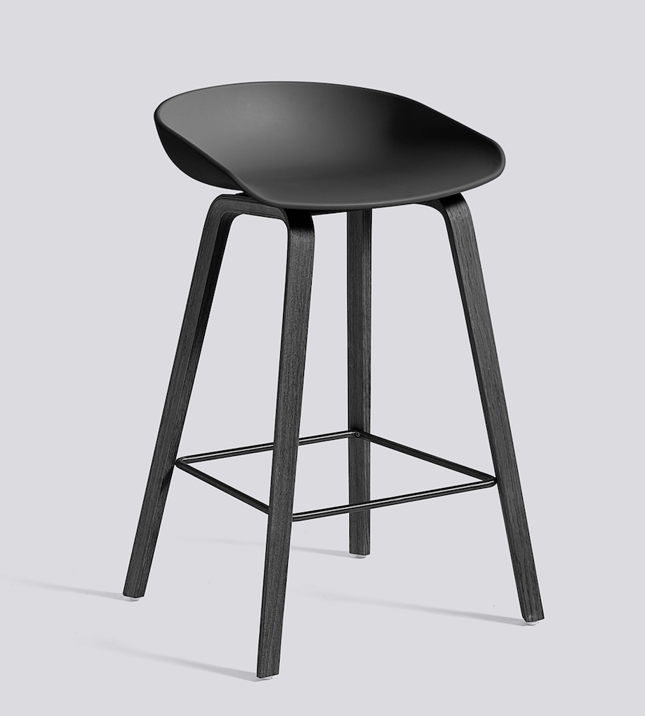 HAY About a Stool 32 schwarz soft black