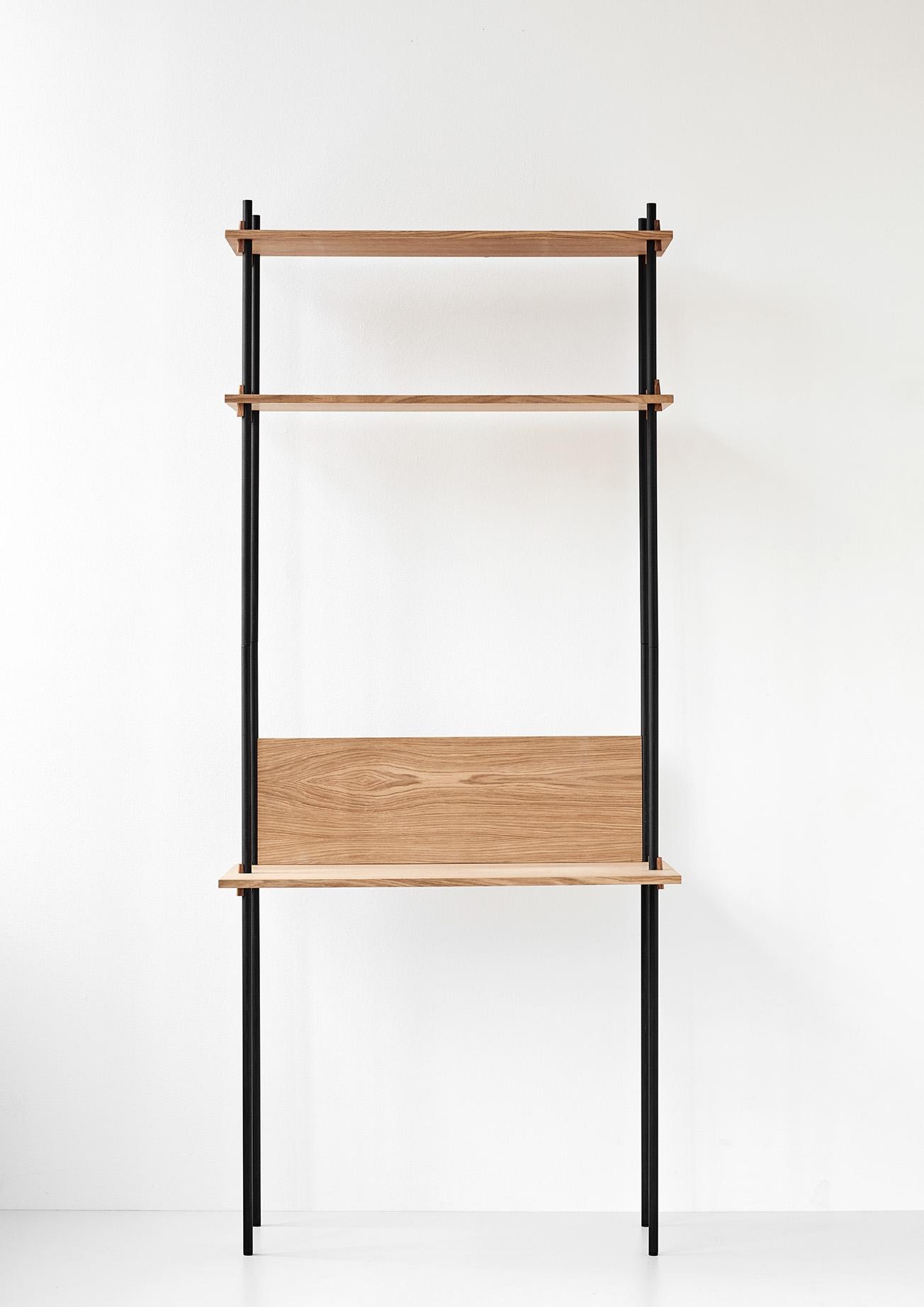 Moebe Shelving System Desk tall single set