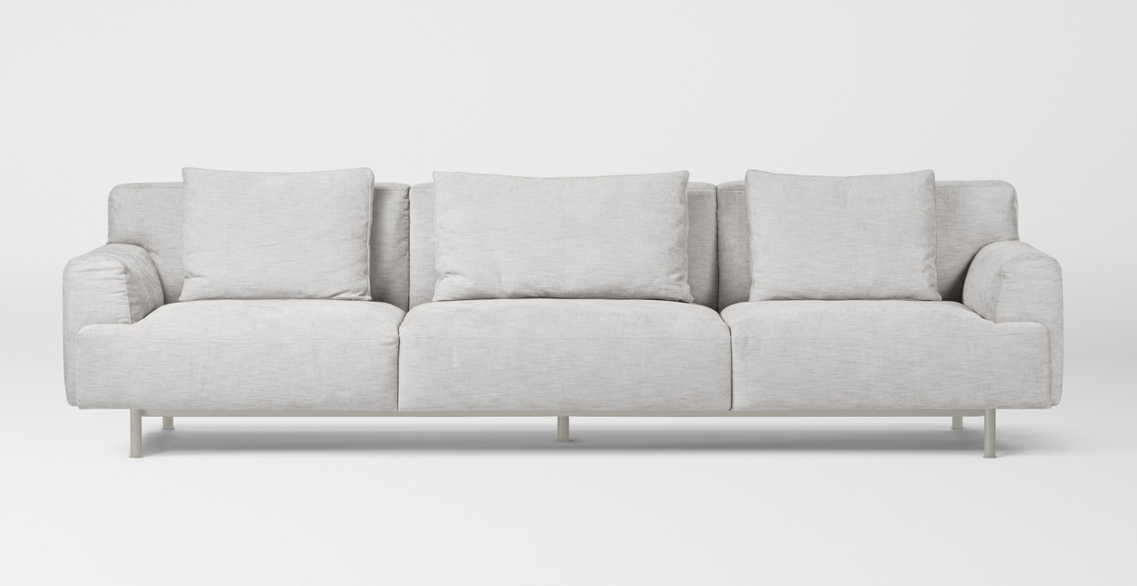 Million Copenhagen Plenty Sofa 4 Seater light grey