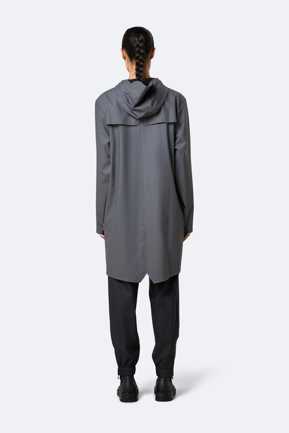 Rains Long Jacket charcoal unisex S/M