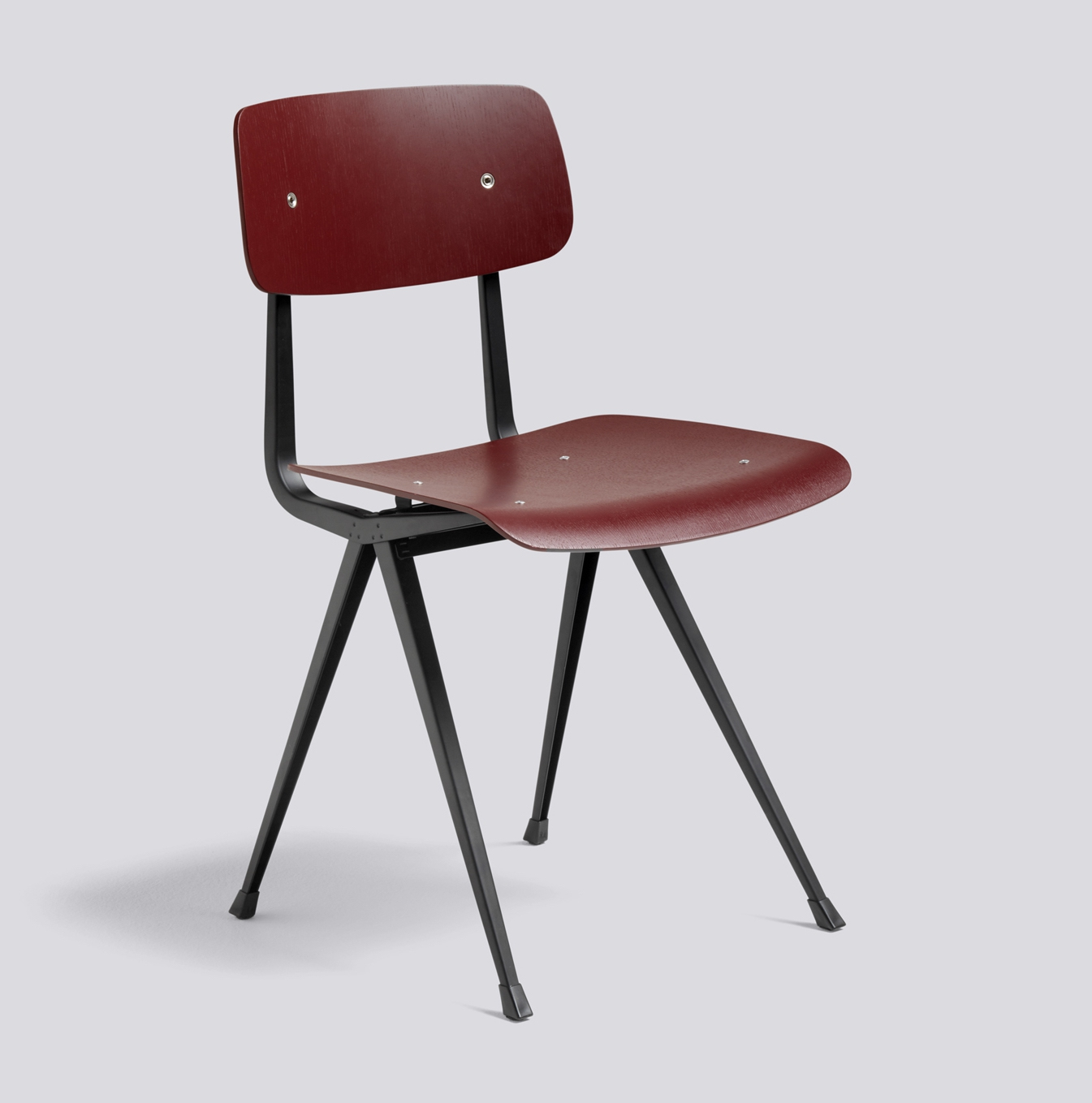 HAY Result Chair black Base / Brick stained