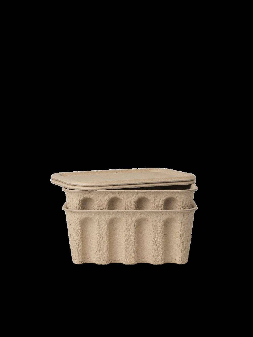 ferm living Paper Pulp Box klein 2er Set