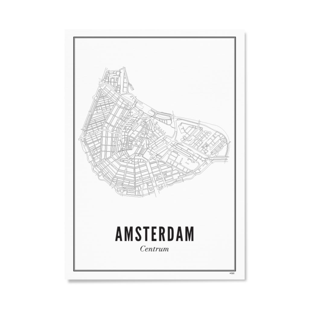 Wijck Poster Amsterdam City 40x50cm