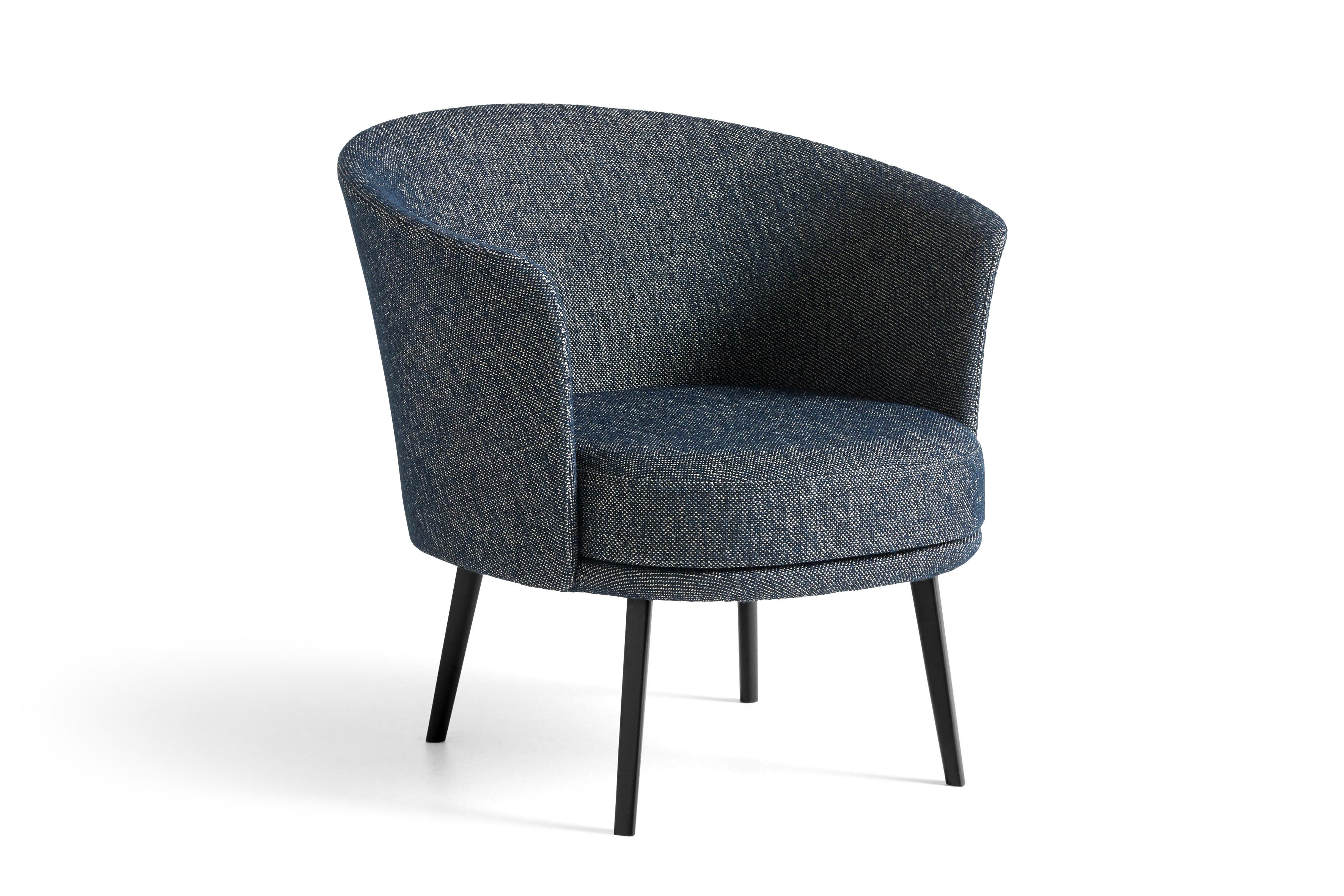 HAY Loungesessel Dorso schwarz | Fairway dark blue 308-288