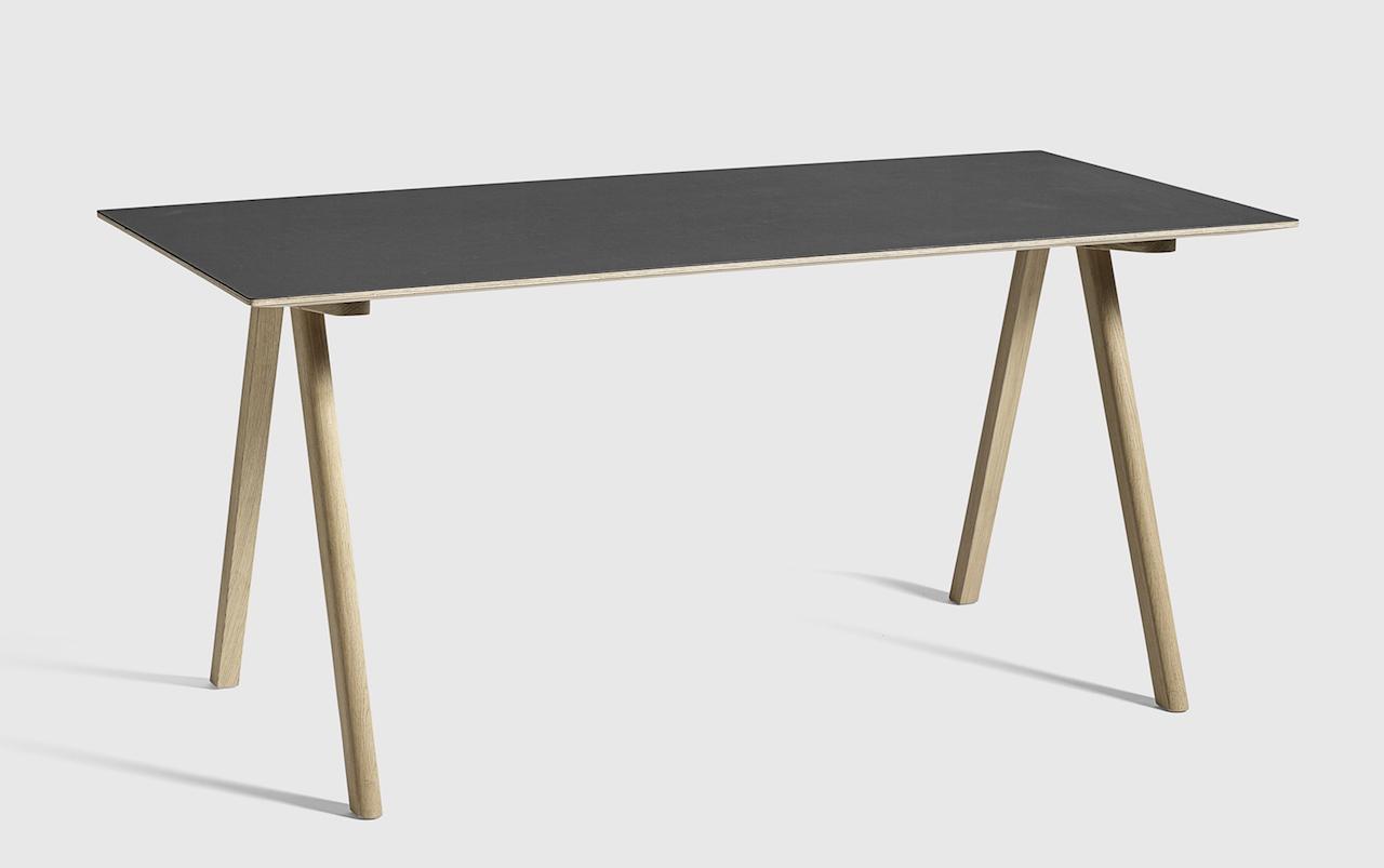 HAY CPH10 Tisch Eiche - Linoleum schwarz