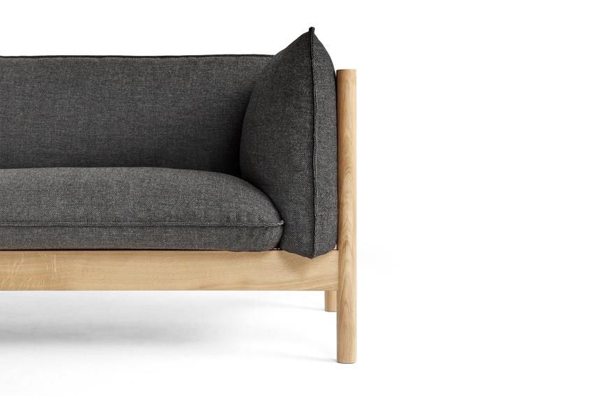 HAY Sofa ARBOUR 3 Sitzer | rot | Re- Wool 648