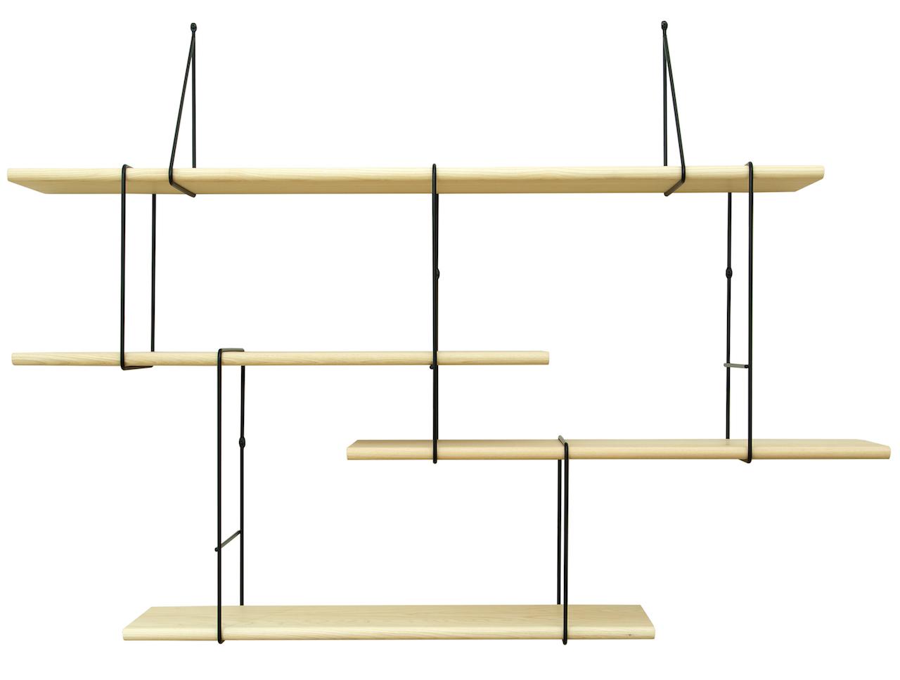 Studio Hausen Link Regal Setup 1 Esche | Schwarz